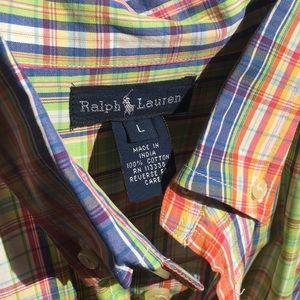 Ralph Lauren- Large Boys Shirt w/ Tab Collar